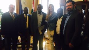 A Ghánai Köztársaság Ifjúsági és sportminiszterét fogadta Szabó Tünde