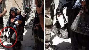 Sokkoló képek – egy nő a gyerekével a kezében robbantotta fel magát Moszulban