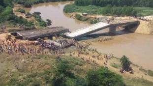 Még el sem készült, máris összeomlott a kínaiak 12 millió dolláros hídja Kenyában