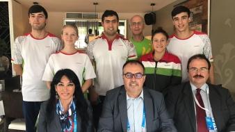 A tadzsik úszókat látta vendégül a Magyar Ázsia Társaság