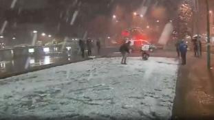 Belepte a hó Santiagót