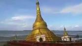 Elmosta a folyó a hatalmas pagodát Mianmarban – videó