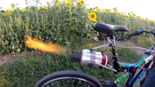 Sugárhajtású kerékpár Oroszországból – videó