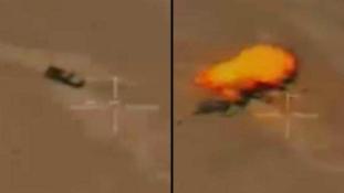 Iráni drónok az Iszlám Állam állásait támadják – videó