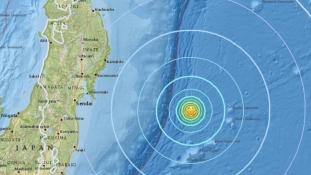 Erős földrengés rázta meg Japánt is