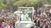Ferenc pápa megsérült Kolumbiában