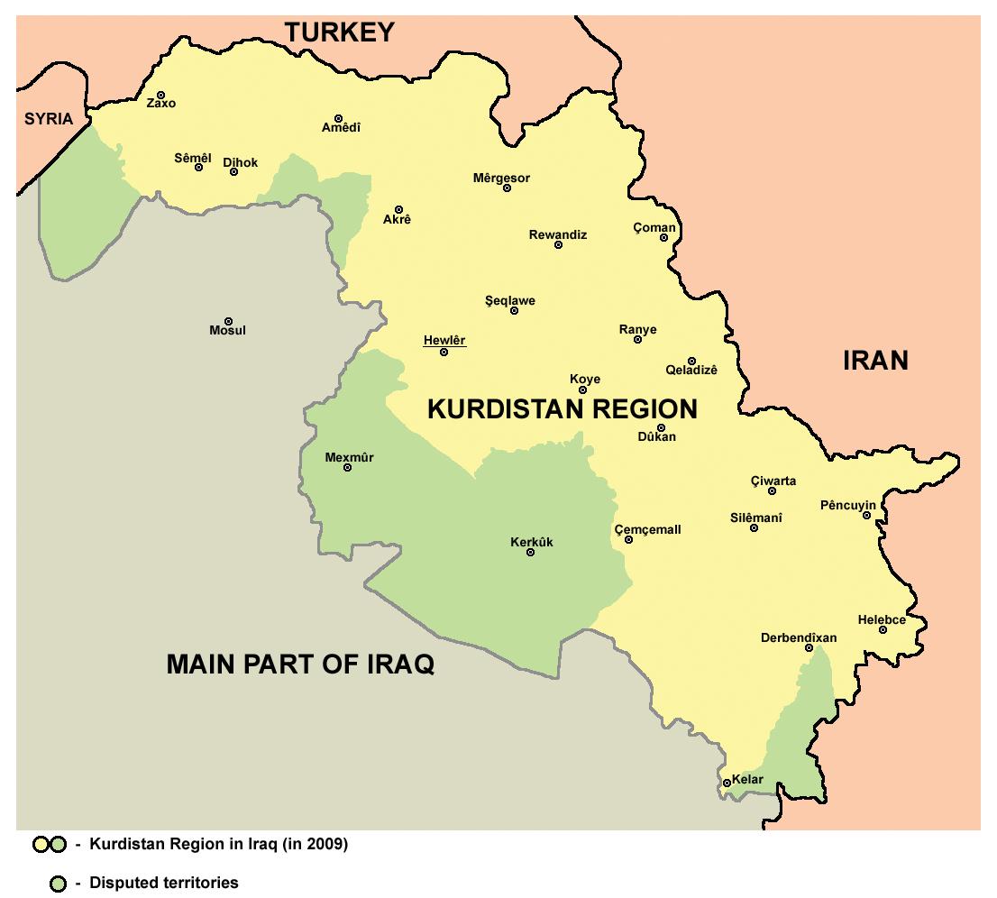 Iraki Kurdisztán - 2009, Wikimedia Commons