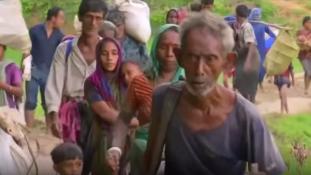 Pánik – menekül a muzulmán rohingya kisebbség Mianmarból – videó