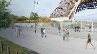 Antiterrorista üvegfal az Eiffel-torony körül