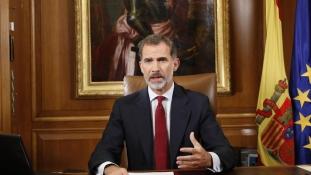 A király beszéde: VI. Fülöp bírálta a katalán kormányzatot a függetlenségi törekvések miatt