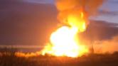 Lángoló gázvezeték Moszkva mellett – videó