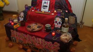 Halottak napi oltár a mexikói nagykövetségen – fotók