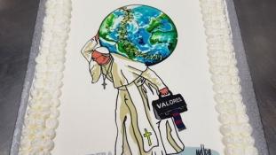 Ezzel a tortával ünnepelte a 81. születésnapját Ferenc pápa