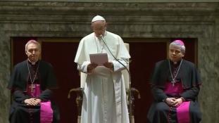 A karácsonyi misén Ferenc pápa újra kiállt a migránsok mellett