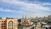 Izraeli légicsapás a gázai övezetre, válaszul az onnan kilőtt rakétára