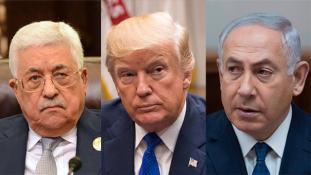 Trump közölte a palesztin elnökkel, hogy Jeruzsálembe költöztetik a nagykövetséget