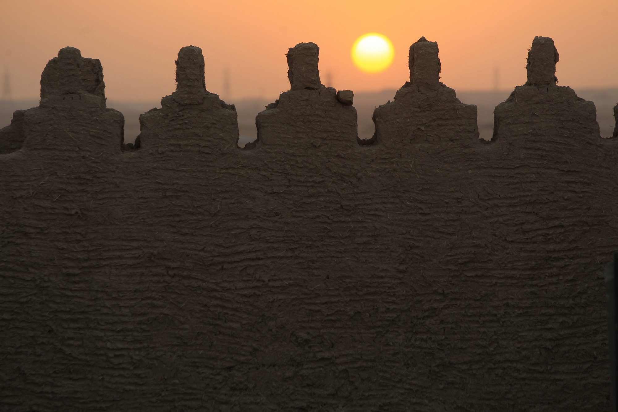 View of the ruins of the city of Diriyah, which are being restored