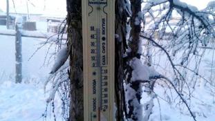 Szibériában olyan hideg van, hogy a hőmérő is kiakadt