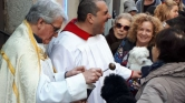 Házikedvenceket áldottak meg egy madridi templomban