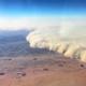 Mint egy rajtaütés – ilyen a homokvihar 9 ezer méter magasból