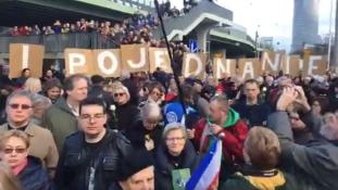 Tüntetés Varsóban az antiszemitizmus ellen