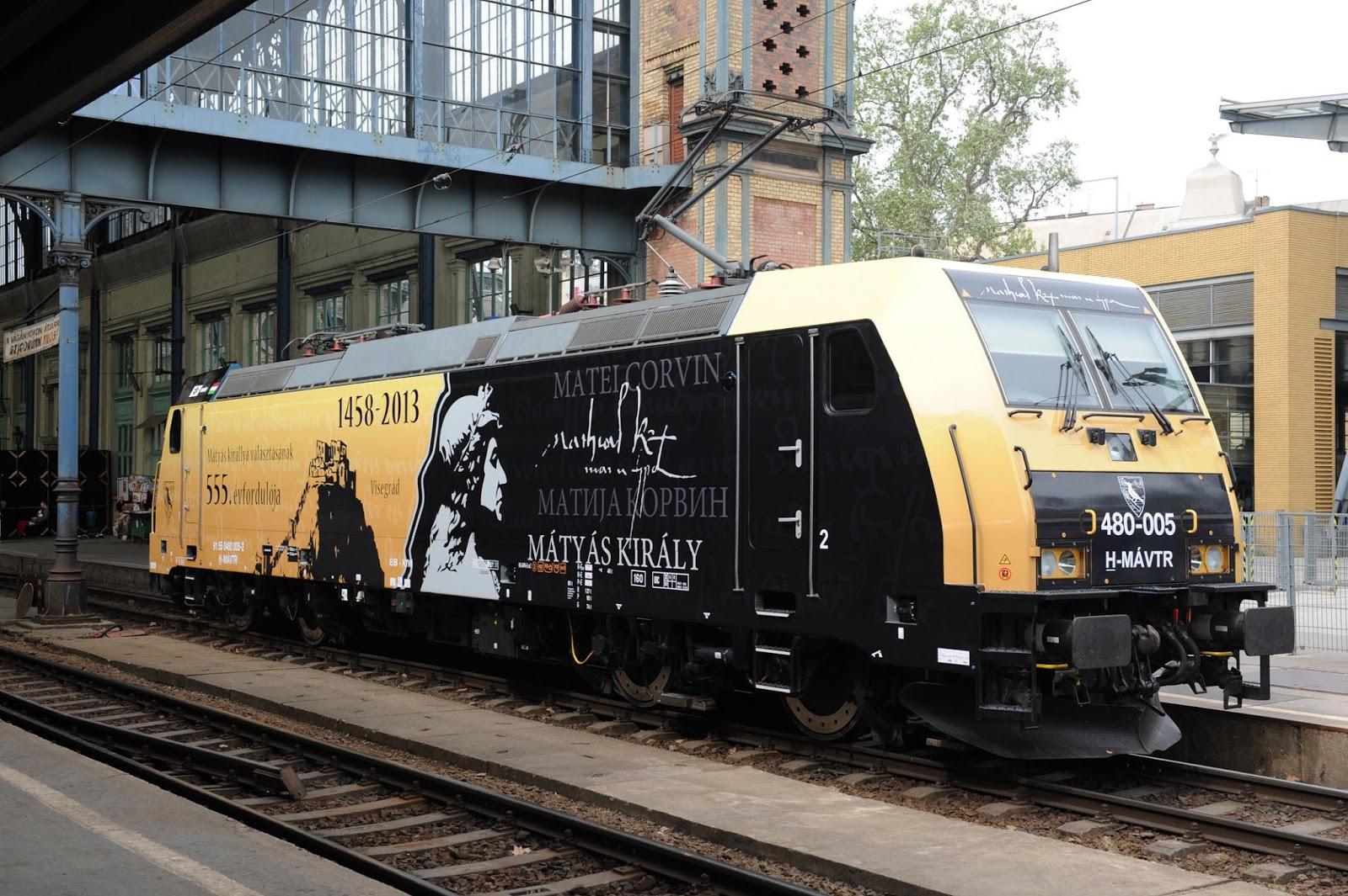 Tavaly ez a mozdony húzta a vonatot.
