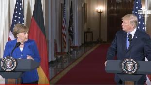 Merkel-Trump: baráti egyet nem értés Washingtonban