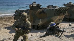 Amerikai – dél-koreai hadgyakorlat a koreai csúcs idején