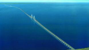 Európa leghosszabb hídja a Krím és az orosz szárazföld között