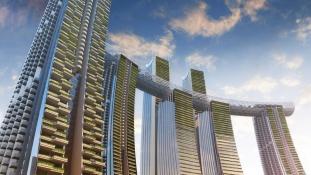 Horizontális felhőkarcoló épül Kínában
