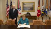 Trump beszólt Merkelnek, aki ettől népszerűbb lett Németországban