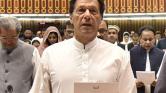 A krikettcsapat is részt vett Pakisztán új miniszterelnökének beiktatásán