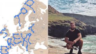 Ez a brit férfi azért utazik 30.000 kilométert Európában, hogy felírja a térképre: STOP BREXIT