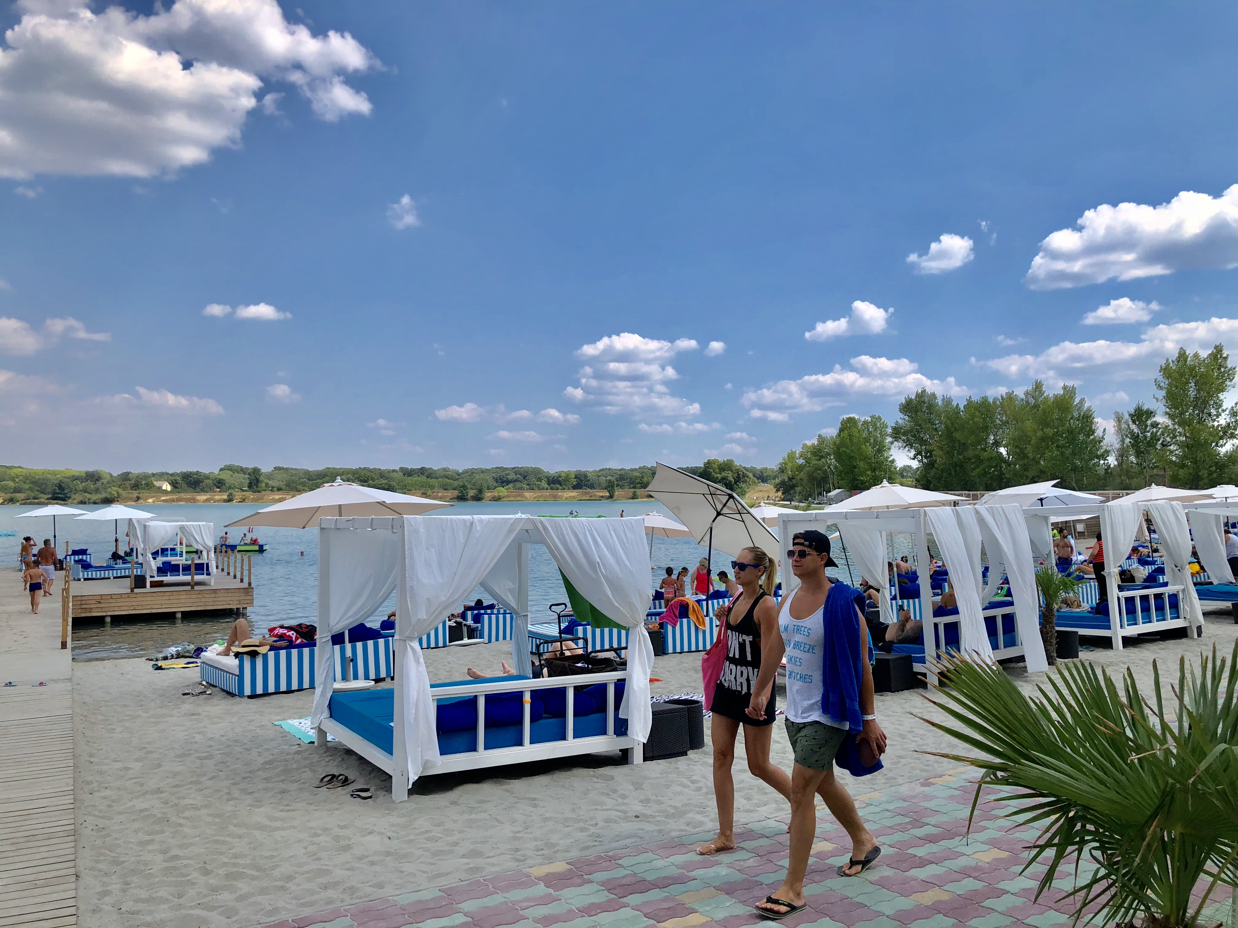 Prémium strand a Lupa-tónál, Budapest mellett. Fotó: Kiss Róbert Richard