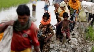 Rohingya menekültek tüntetése – videó