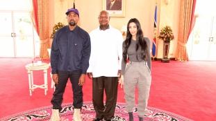 Ugandában van Kim Kardashian és Kanye West