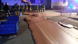 Mint a mesében – csokoládé dermedt az útra Németországban