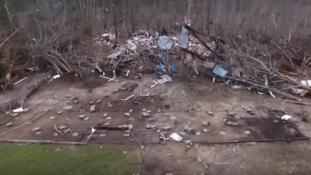 Ez maradt az alabamai Beauregardból a tornádó pusztítása után – videó