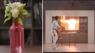 Másodpercek alatt oltja el a tüzet a Samsung tűzoltó vázája