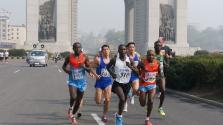 Maratoni futás Kim Ir Szen emlékére