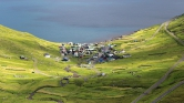 Turista stop a Feröer-szigeteken