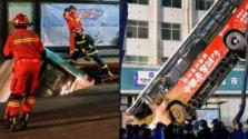 Buszt nyelt el a föld Kínában: 16 sérült, hatan meghaltak